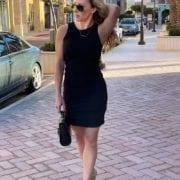 凯莉·布莱肖黑色紧身裙《欲望都市