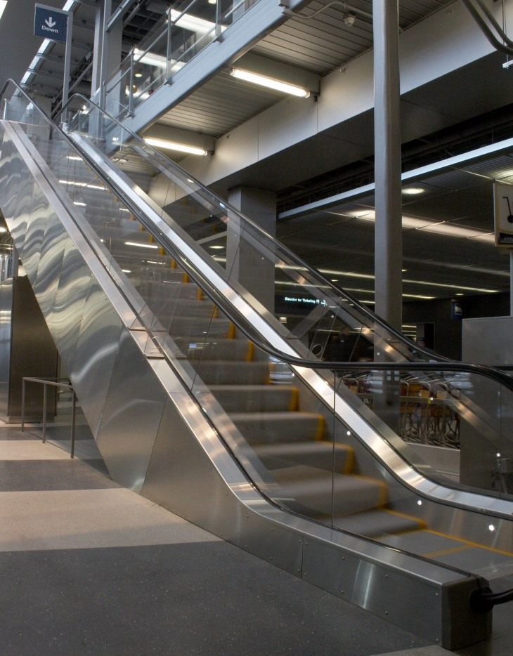 Custom Escalator Cladding