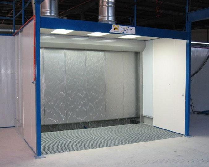 Cabinas para pintura sin presurizar pintura seca y agua