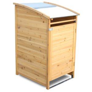 acheter un cache poubelle en bois
