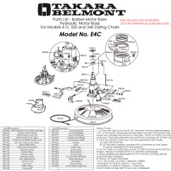Barber Chair Parts Swing India Takara Belmont