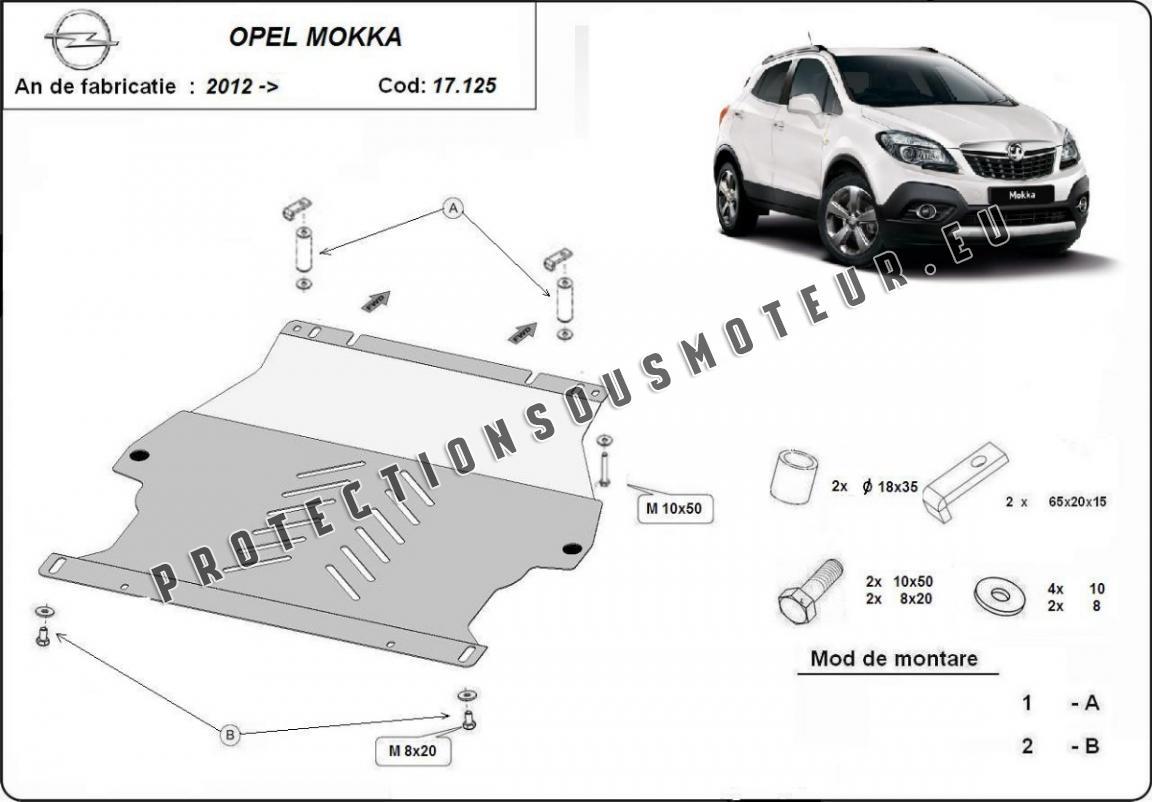 Cache sous moteur et de la boîte de vitesse Opel Mokka