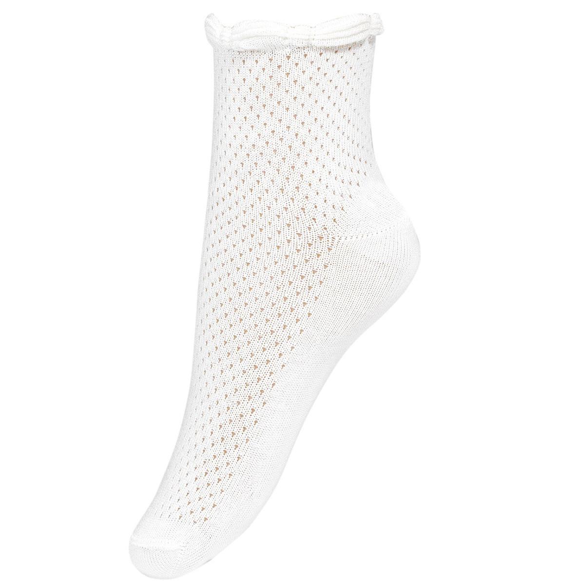 Girls Summer Dress Socks In White With Braided Pattern