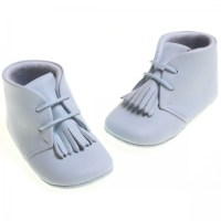 Cuquito Baby boys blue leather booties | Cachet Kids