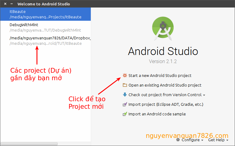start-android-studio