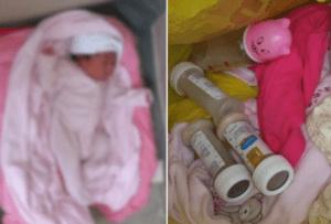 Dejan una recién nacida abandonada en la galería de una casa en Higüey