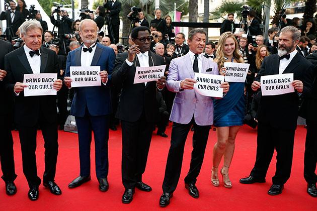 Estrellas de Hollywood en Cannes pidieron la liberación de las niñas secuestradas en Nigeria