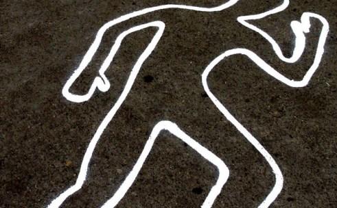 crimen silueta piso