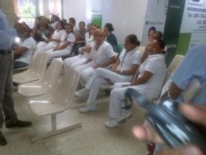 enfermeras en huelga