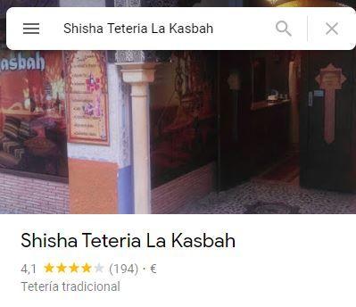 SHISHA TETERIA LA KASBAH