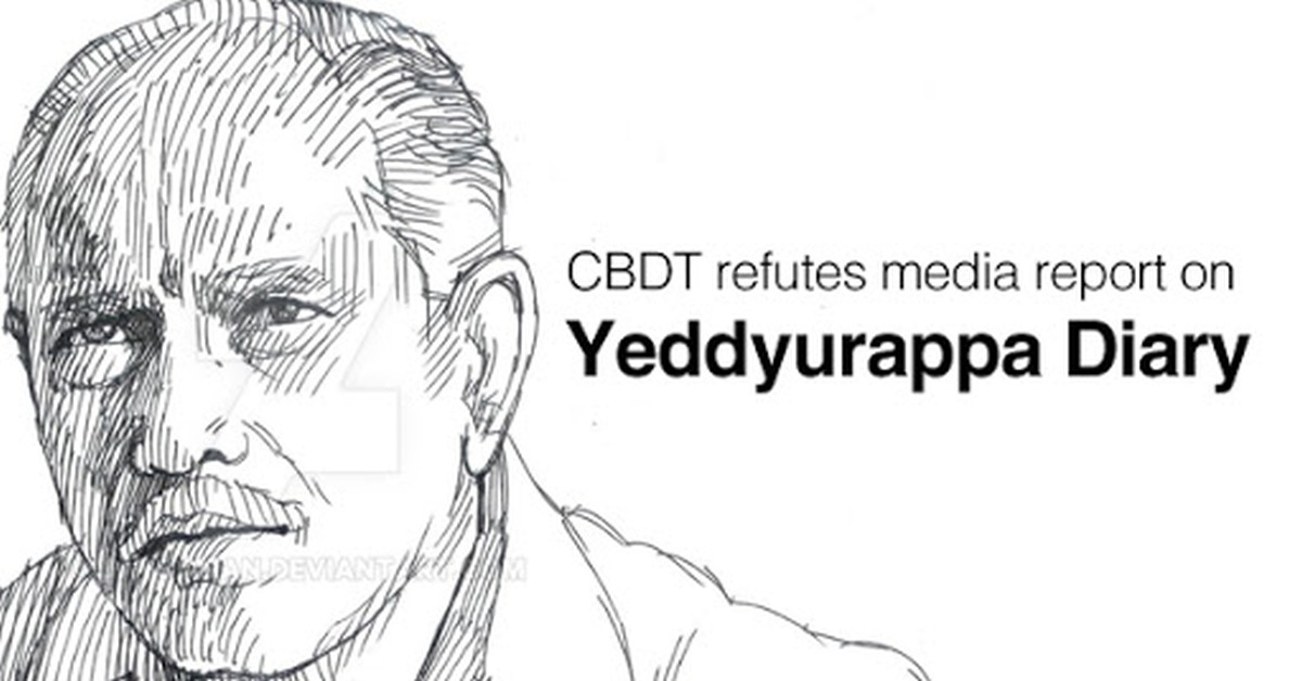 CBDT refutes media report on Yeddyurappa diary