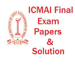 ICMAI Final exam paper solution