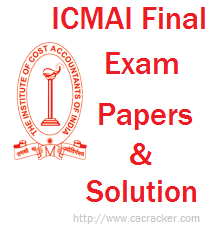 ICMAI Final exam paper solution