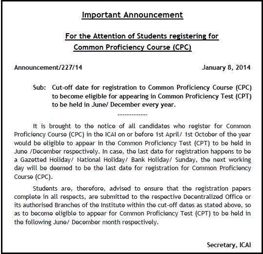 cpt june 2014 registration last date