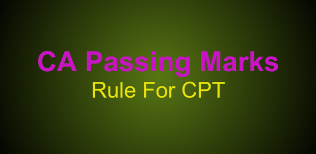 cpt passing marks rule