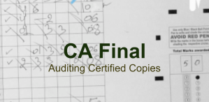 CA Final Auditing Certified Copies