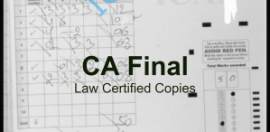 CA Final Law Certified Copies