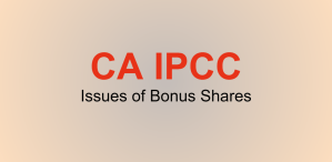 IPCC Issues of Bonus Shares