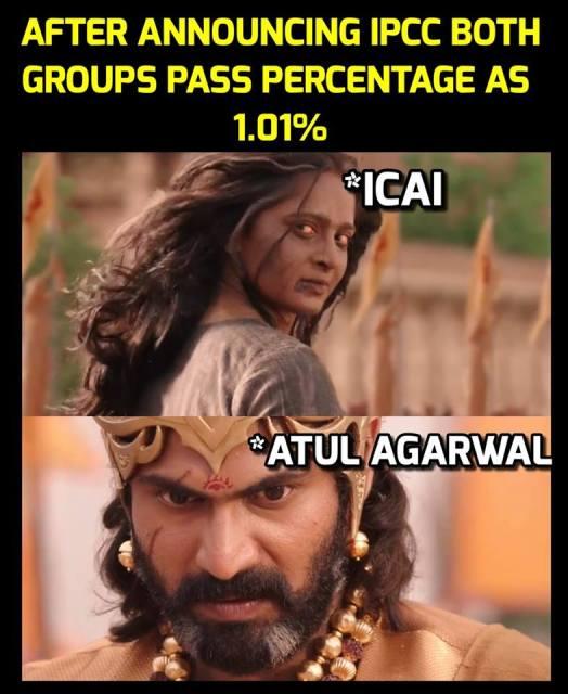 bahubali icai result meme