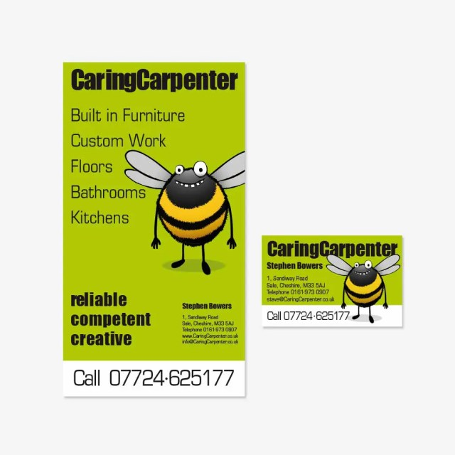 CaringCarpenter Flyer & Visitenkarte