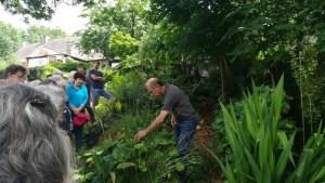 Visite de jardins @ Départ devant la piscine de Redon
