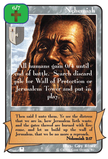 Nehemiah card from Redemption The Card Game