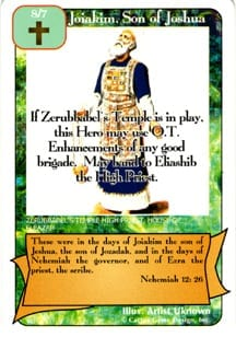 Joiakim Son of Joshua card from Redemption The Card Game