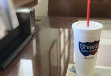 A date shake from Shield's Date Garden in Indio, California