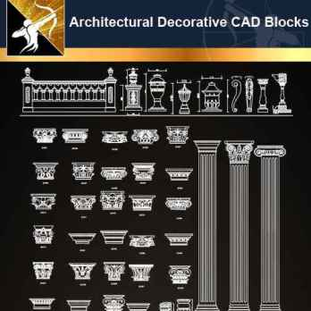 ★【Architectural Decorative CAD Blocks】@Autocad Decoration Blocks,Drawings,CAD Details,Elevation
