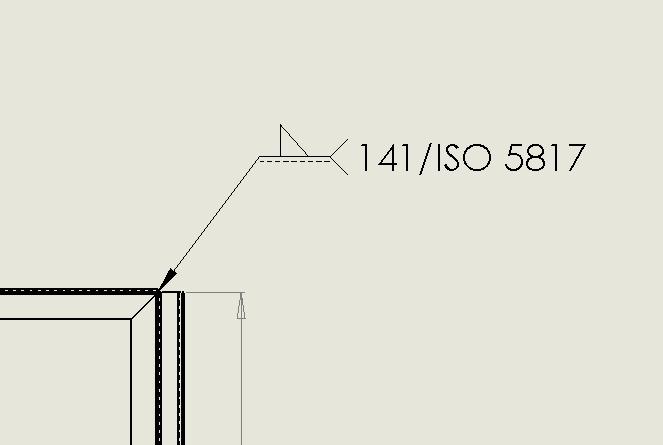 Winkelrahmen schweißen / Symbol (DS SolidWorks/SolidWorks