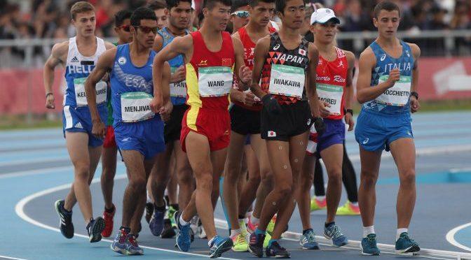 El día inaugural de los atletas sudamericanos