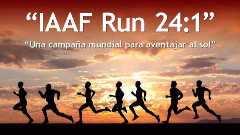 IAAF Run 24:1 – Una campaña global para aventajar al sol
