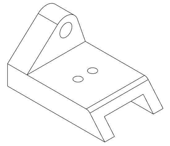 Isometric Drawing Sketch Coloring Page