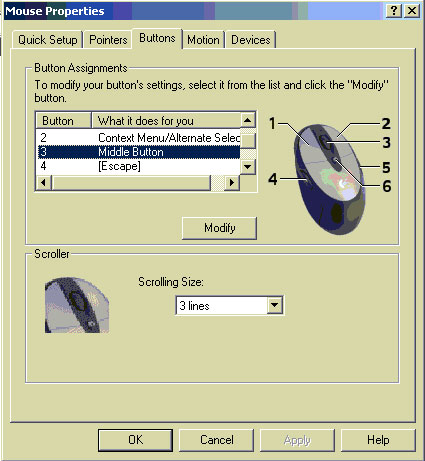Mouse Properties - Control Panel