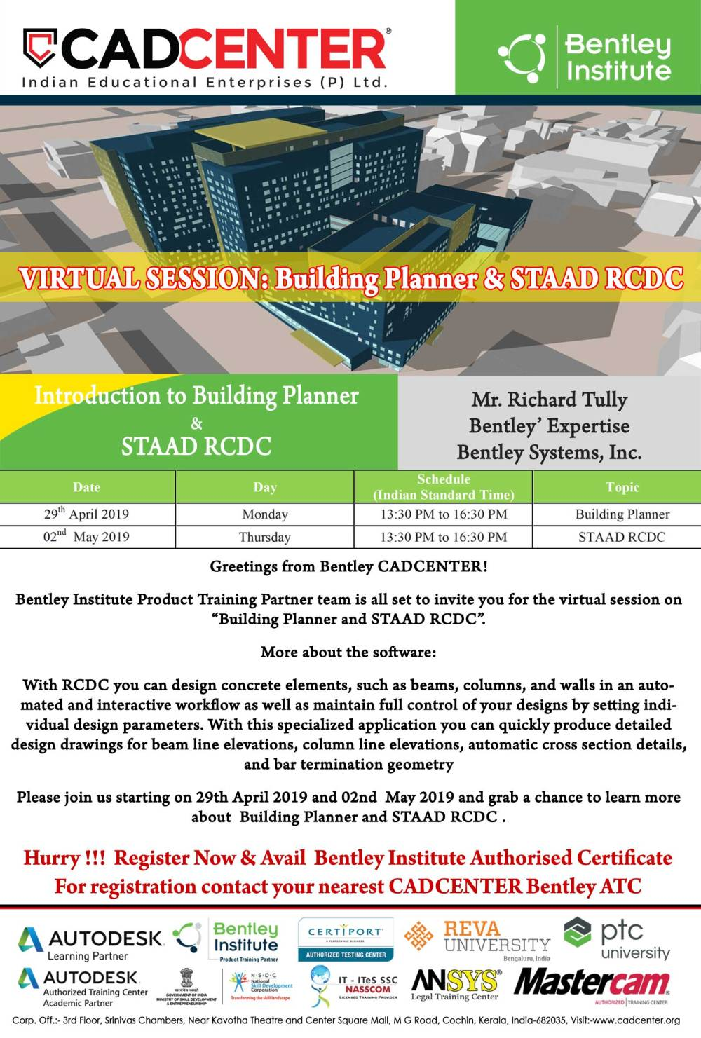 medium resolution of session on building planner staad rcdc