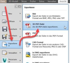 3D PDF Befehl