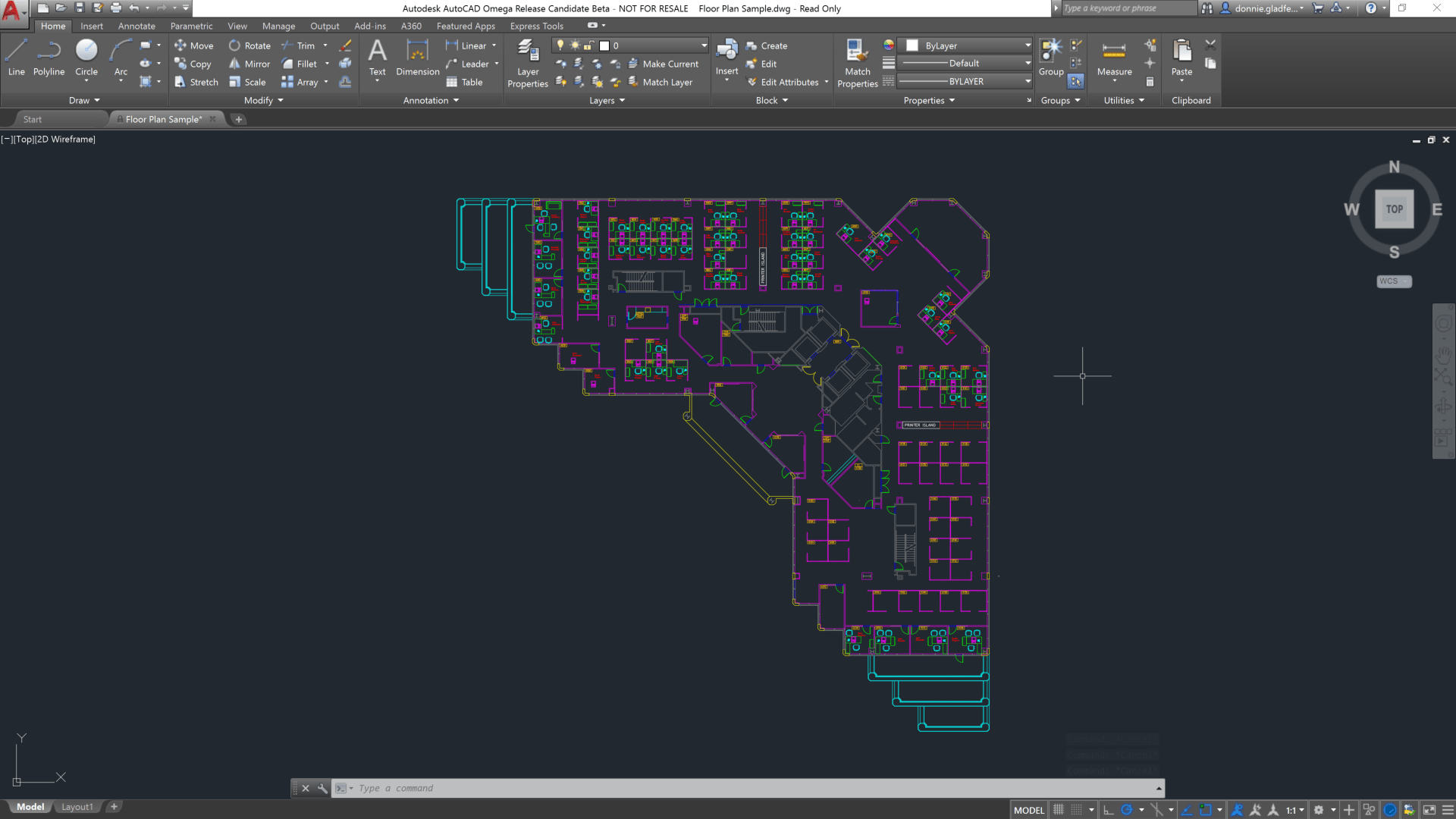 Blueprint Floor Plan A First Look At Autocad 2018 Cadd Microsystems Blog