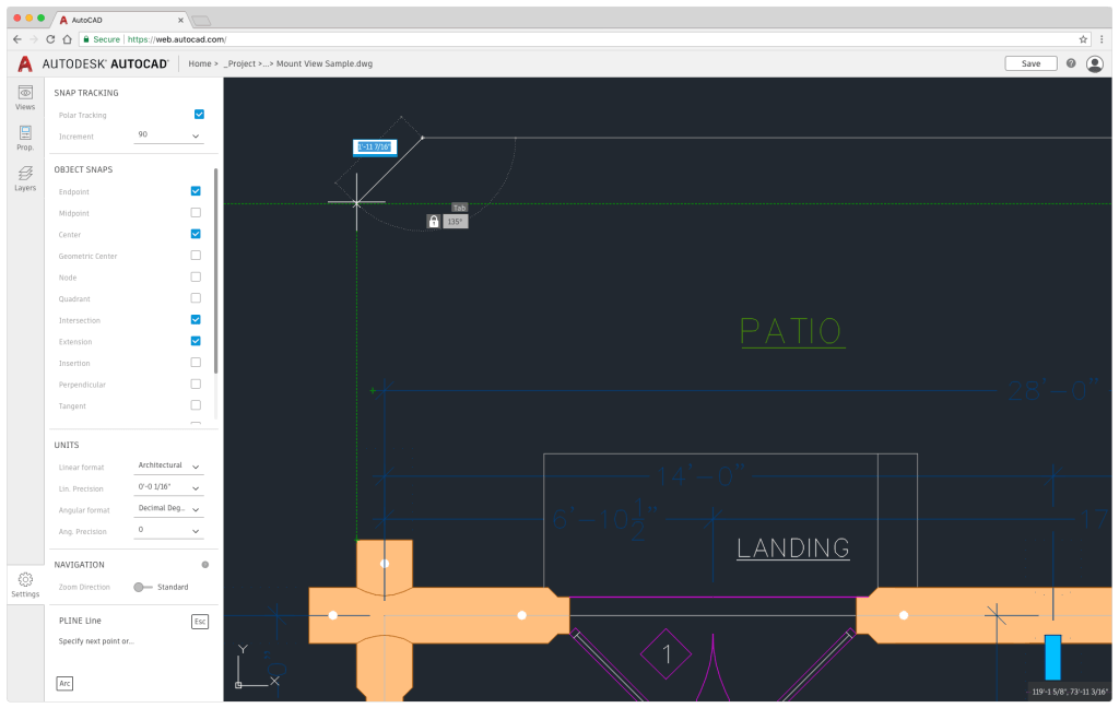 Drafting with AutoCAD Web