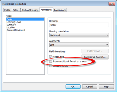 Revit Architecture 2014 - Configuring enhanced schedules