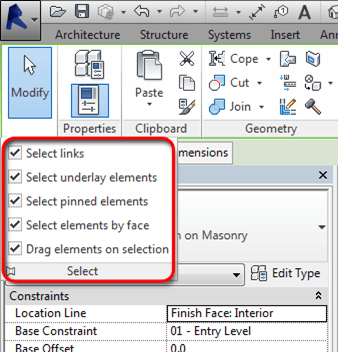 Revit Architecture 2014 - Selection Enhancements