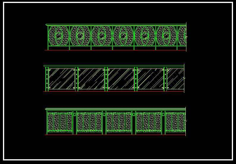 Wrought iron railing fence design】★ - 【Download AUTOCAD ...