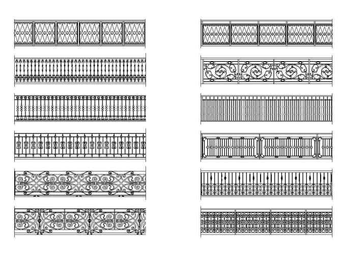 Free Wrought Iron Railings 1 – Download AUTOCAD Blocks