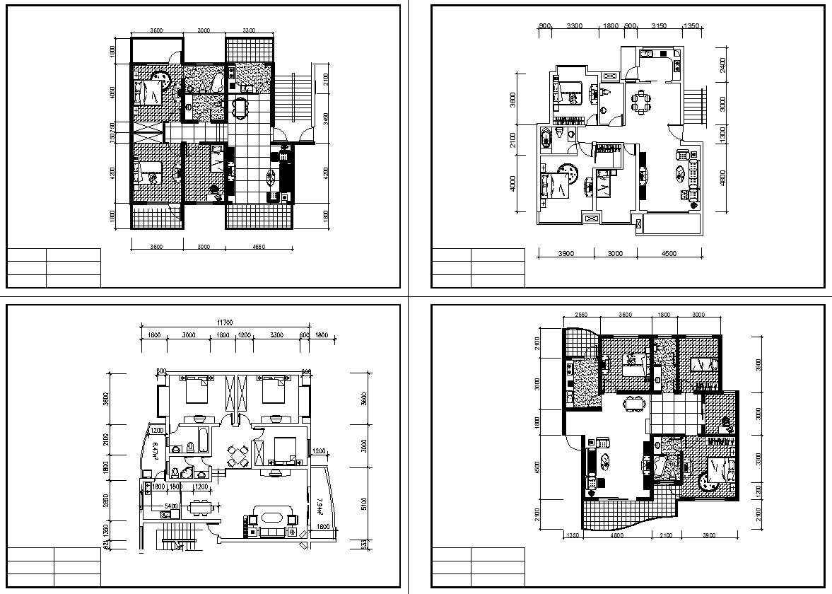 Residential construction drawings bundle 2 download cad for Residential building drawings download