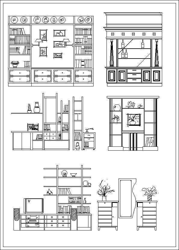 Furniture Elevation Design Download CAD BlocksDrawings