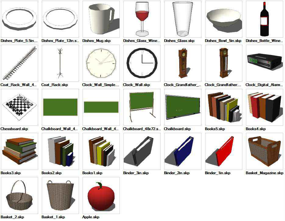 Sketchup interior objects 3d models download download Furniture design software free download