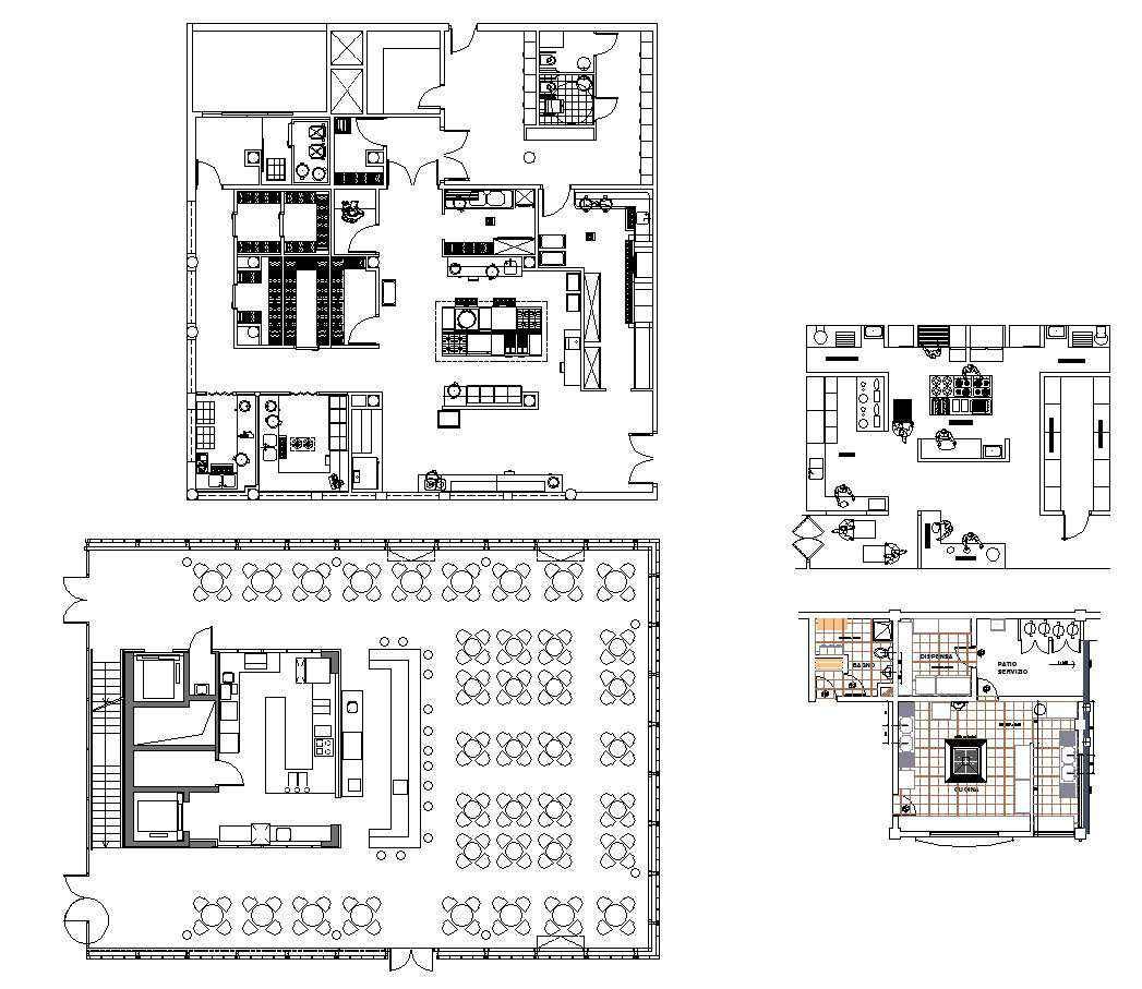 Restaurant plan design