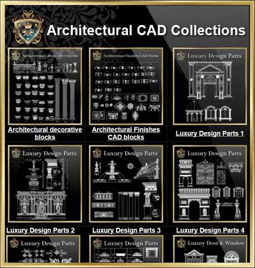 Architectural cad drawings bundle best collections for Interior design cad free