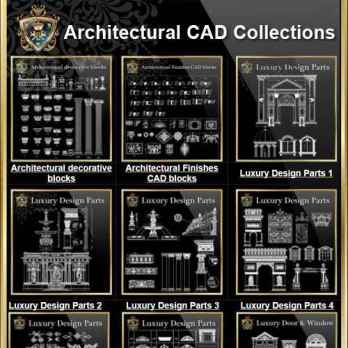 Architectural CAD Drawings Bundle 115 Best Interior Design