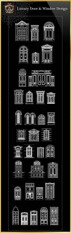 Luxury door window download cad blocks drawings for Window design cad