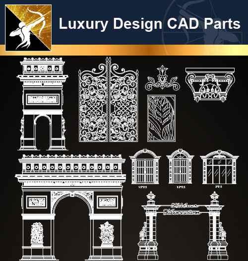 ★【Architecture Decoration Design Element CAD Blocks V.4】